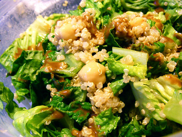 Everyday Quinoa &amp; Chickpea Salad with Balsamic Vinaigrette