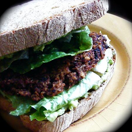 Mushroom Olive and Lentil Burgers