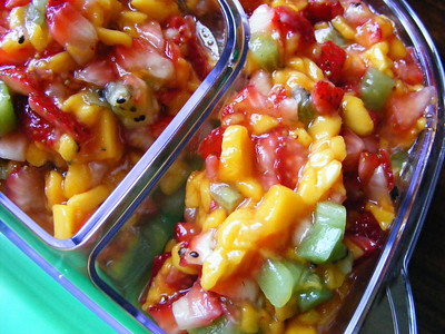 Fruit Salsa - Mango, Strawberry, Kiwi