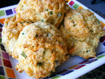 Scallion & Cheddar Drop Biscuits