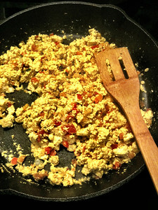 Scrambled Tofu with Home Made Salsa